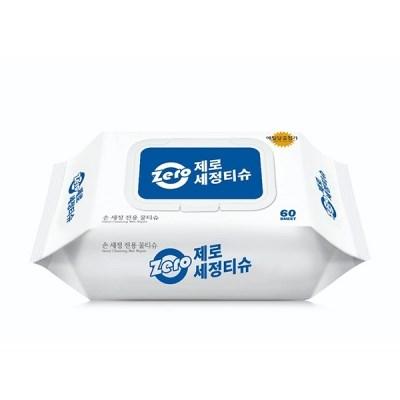 제로 소독 알콜 손 세정 에틸알코올 물티슈 60매입_(306641)