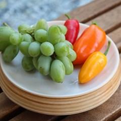 우디 도자접시 과일플레이트 도자기그릇