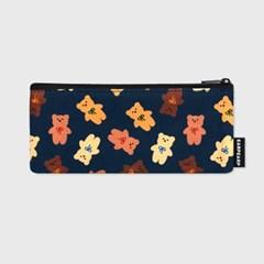 Dot ribbon bear-navy(필통)_(1585975)