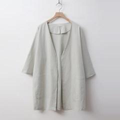 Linen Cotton Open Jacket