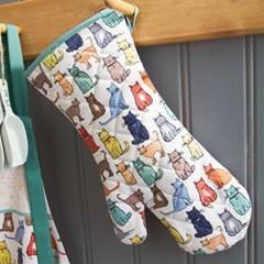 [울스터위버스] 캣워크 고양이 오븐장갑 주방장갑