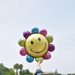 꽃을 든 스마일 호일풍선