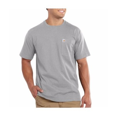 칼하트 티셔츠 포켓 반팔티 101125-034 그레이_(1001012)