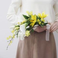 카라&다알리아 Yellow color 조화 웨딩부케세트
