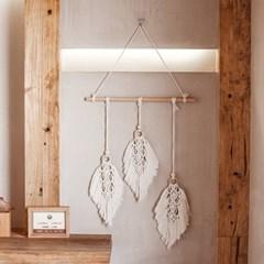 마크라메 나뭇잎 월행잉 벽장식 소품
