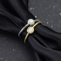 에르모사제이 실버925 오팔 은 반지 R023