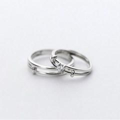 에르모사제이 실버925 커플링 은 반지 R010