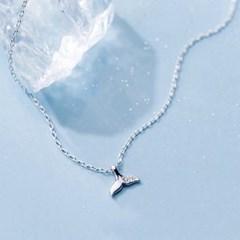 에르모사제이 실버925 고래꼬리 은 목걸이 N022