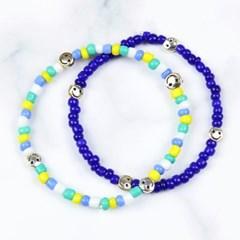 [SET] new smile beads bracelet (2color)