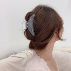 하프 유광 올림머리 집게핀 빅사이즈 헤어핀