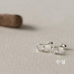 뷔즈 실버925 수정 귀걸이VE087