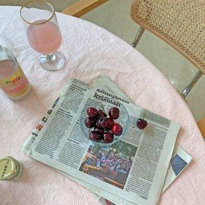 멜로우 테이블클로스 - 핑크