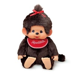Premium Standard Super Soft Monchhichi Brown Girl L