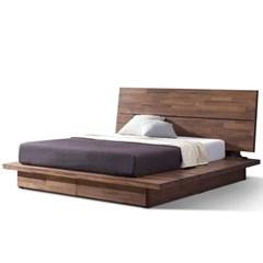 [스코나]브런슨 원목 수납 와이드 킹 침대(매트 별도)_(602800259)