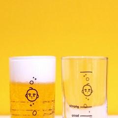 [청년한가닥] 일러스트 유리컵