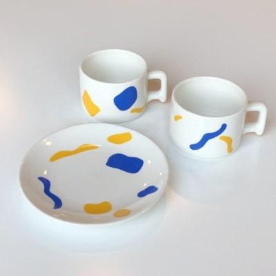shape plate mug / 도형 접시 원형 접시 머그컵
