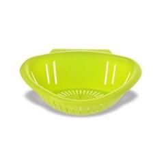 실속 플라스틱 거치형 채반 1개(색상랜덤)