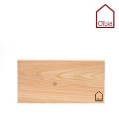 올비아 편백나무도마 (소) 옹이 40x20cm