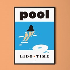 POOL M 유니크 인테리어 디자인 포스터 수영장