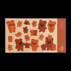 큐피드곰 가족 리무버 스티커