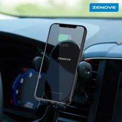 제노브 고속 무선충전 차량용 휴대폰거치대 X1