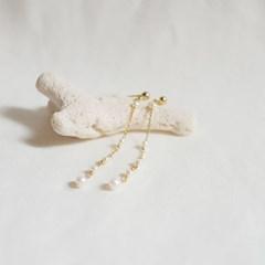 Sea bubble pearl drop earrings
