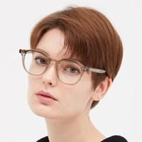 Harper KHAKI GRAY 투명 뿔테 안경