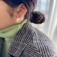 도트 링 귀걸이 (2colors)