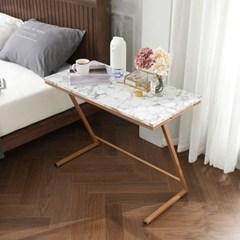 WELL 마블 사이드 테이블 800 골드 대리석 무늬 쇼파 침대 협탁