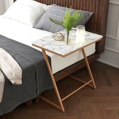WELL 마블 사이드 테이블 600 골드 대리석 무늬 쇼파 침대 협탁