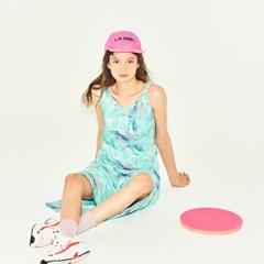 Marbling Sleeveless Dress in Mint