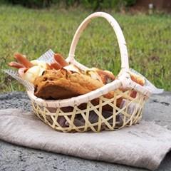 대나무 손잡이 바스켓 (빵바구니)