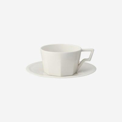 킨토 OCT 컵 앤 소서-300ml 화이트_(1567937)