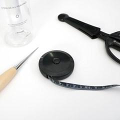 수예용 블랙 줄자 (150cm / 60inch) - 콤펙트형