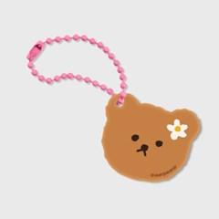Dot flower bear(브라운 키링)_(1598214)