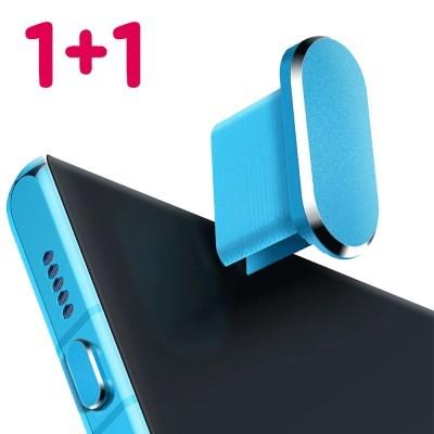 [1+1] LG, 삼성C타입 충전단자 먼지 마개 (메탈)