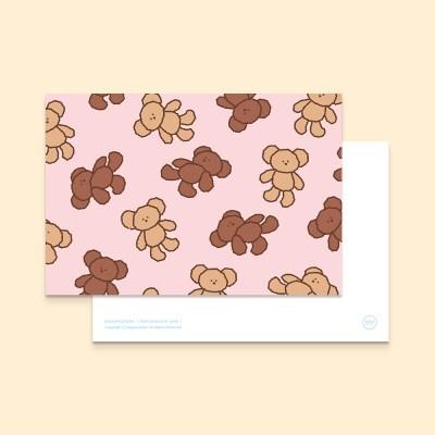 bear postcard : pink