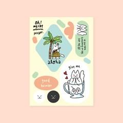 Oh! my cat sticker