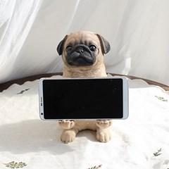 퍼그 강아지 핸드폰 거치대