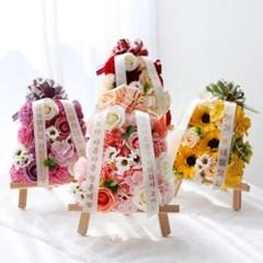 비누꽃 미니화환 리본백증정 개업 승진 기념일 용돈화환