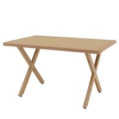 엣지라탄 수지목 사각 테이블 1300