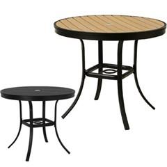 지오 수지목 원형 테이블 900