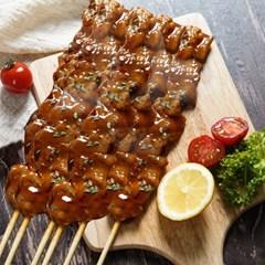 데리야끼 닭꼬치 간식음식 캠핑 바베큐 70g 6개