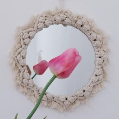 마크라메 거울 인테리어 벽거울
