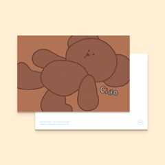bear postcard : brown