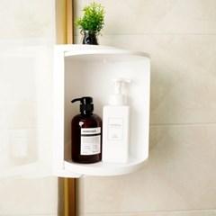 방수 욕실선반 360도 회전 욕실코너선반