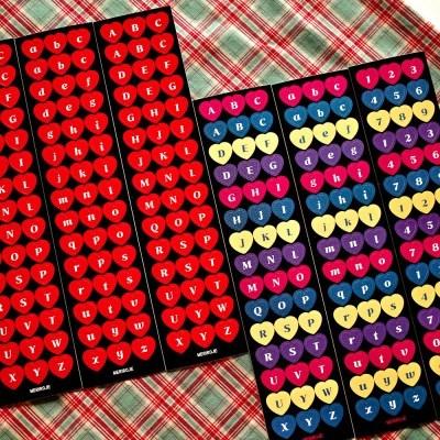 [메리로제] 레트로 하트 알파벳 숫자 스티커