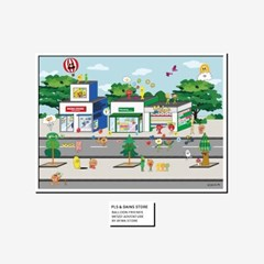 벌룬프렌즈 플리징스토어 포스터 - A4,A3,A2