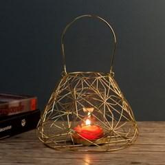 샤인 스틸 램프형 캔들홀더/촛대 티라이트 캔들선물