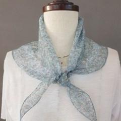 플라워 삼각 패턴 할머니 패션 쁘띠 명품 스카프